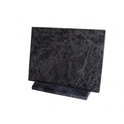 PLAQUE 30 X 40 AVEC SOCLE GRANIT MAES Plaques Funéraires Personnalisées en Marbre ou Granit - Plaque tombale pas cher