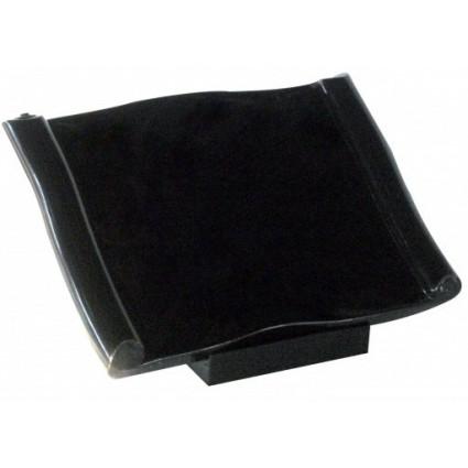 Parchemin en granit noir fin Décorations funéraires prix pas cher - Plaques tombales personnalisées avec photo, nom, texte