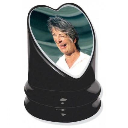 Photo porcelaine couleur cœur 10x10 cm Accessoires pas cher - Plaques tombales personnalisées