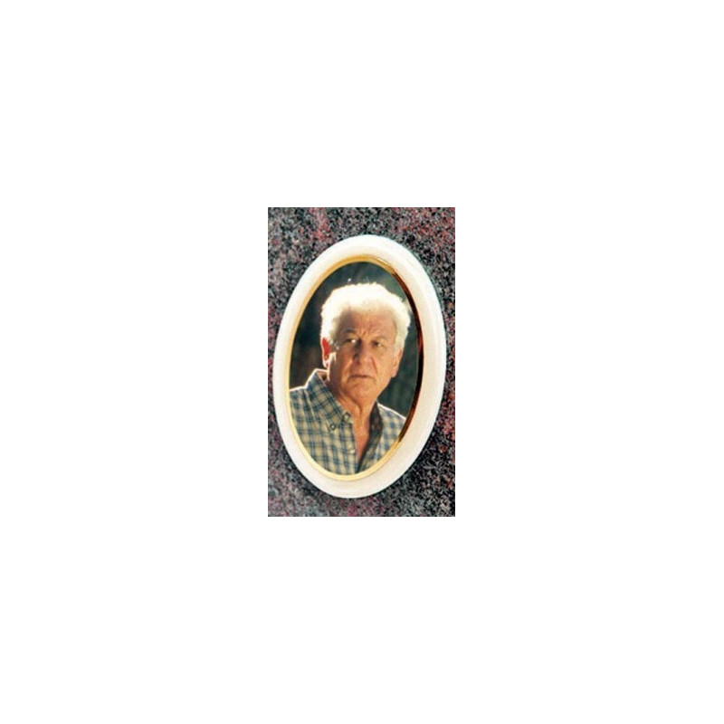 Photo porcelaine couleur 8x10CM Accessoires - Plaque tombale pas cher