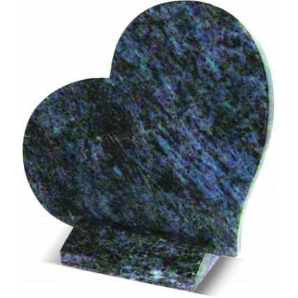 Plaque coeur en granit maes blue Plaques Funéraires Personnalisées en Marbre ou Granit prix pas cher - Plaques tombales perso...