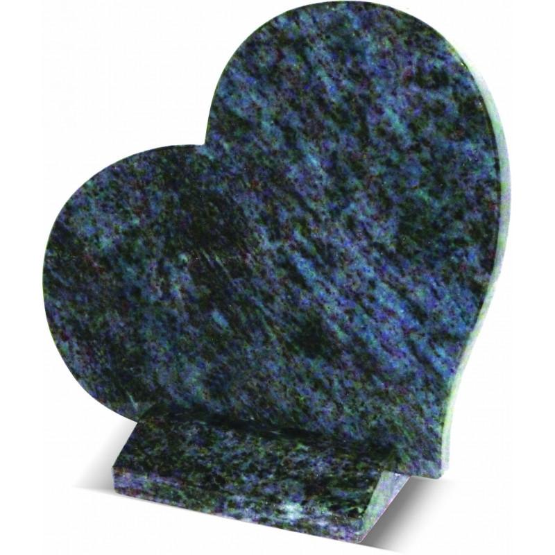 Plaque coeur en granit maes blue Plaques Funéraires Personnalisées en Marbre ou Granit - Plaque tombale pas cher