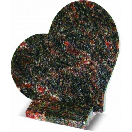 Plaque coeur en granit himalaya blu Plaques Funéraires Personnalisées en Marbre ou Granit - Plaque tombale pas cher