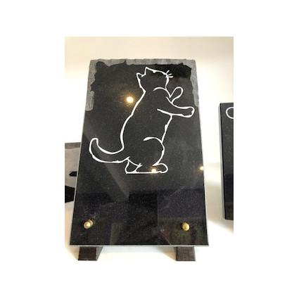 Plaque en granit thème chat Plaques Funéraires Personnalisées en Marbre ou Granit - Plaque tombale pas cher