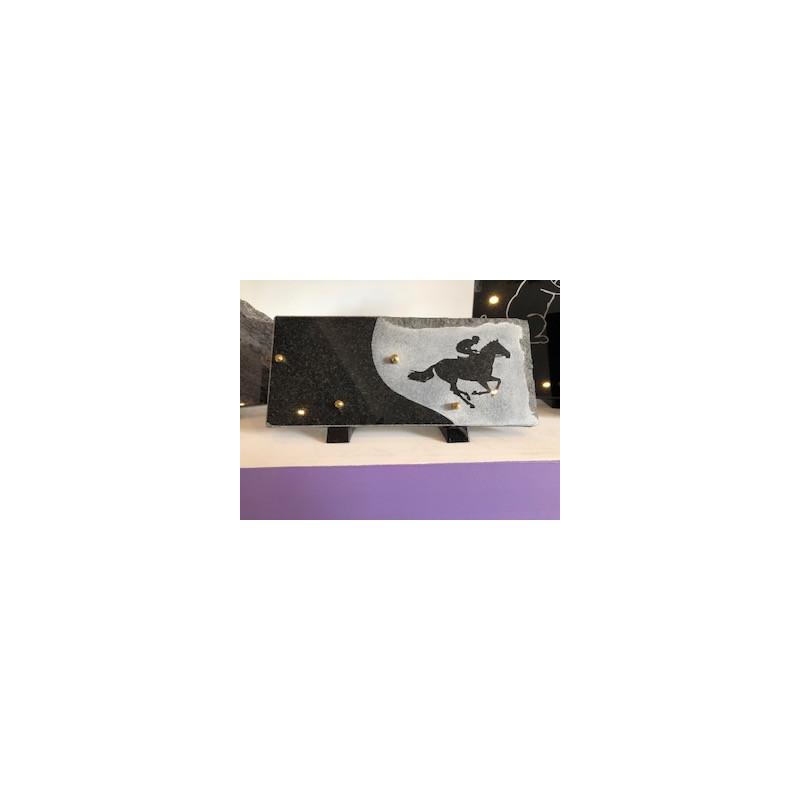Plaque en granit sur le thème de l'équitation Plaques Funéraires Personnalisées en Marbre ou Granit - Plaque tombale pas cher